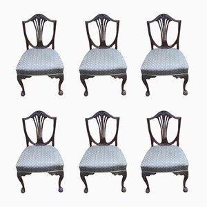 Vintage Esszimmerstühle aus Mahagoni, 1920er, 6er Set