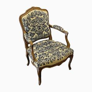 Louis XV Style Mahogany Armchair, 1920s