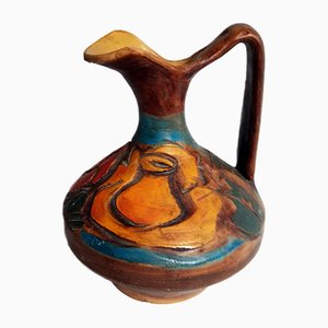 Mid-Century Italian Ceramic Pitcher from Valbruna