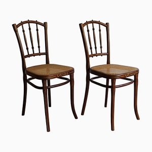 Art Nouveau Dining Chairs by Gebrüder Thonet Vienna GmbH, 1910s, Set of 2