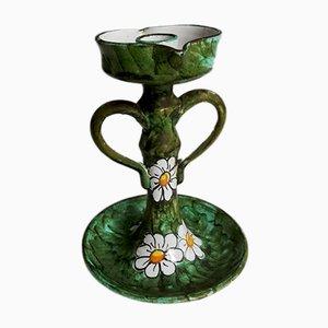 Mid-Century Italian Ceramic Candleholder