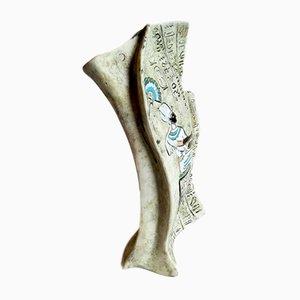 Italienische Mid-Century Keramikvase von F.lli Marchi