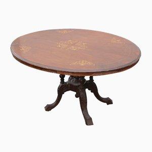 Antique Oval Mahogany Loo Table, 1910s