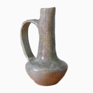 Vaso fatto a mano in ceramica e gres, anni '60