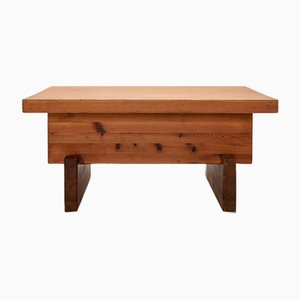 Scandinavian Modern Pine Coffee Table by Roland Wilhelmsson, 1970s