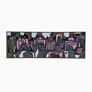 Panel de cerámica esmaltada