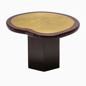 Vintage Brass and Lacquer Side Table, 1970s