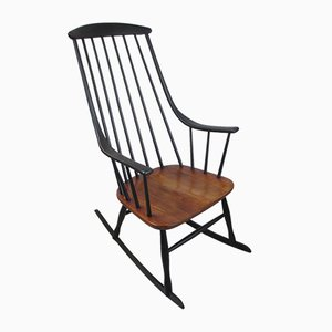 Wooden Rocking Chair by Lena Larsson, 1950s
