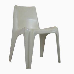 German White Fiberglass BA 1171 Garden Chairs by Helmut Bätzner for Bofinger, 1960s, Set of 4
