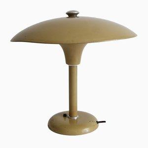 Lámpara de mesa Bauhaus alemana de metal de Schumacher para Schröder, 1934