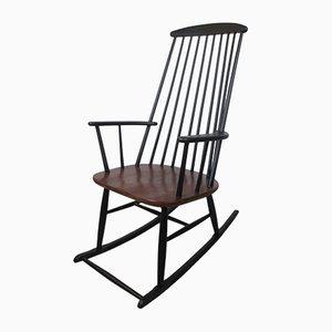 Rocking Chair en Hêtre et Contreplaqué par Ilmari Tapiovaara, 1960s
