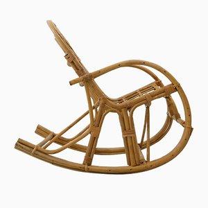 Rocking Chair pour Enfant Vintage en Bambou, 1970s
