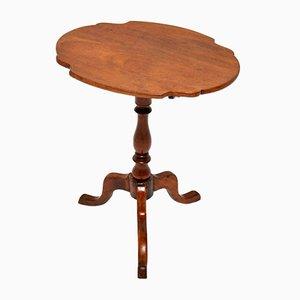 Antiker Beistelltisch aus Mahagoni mit klappbarer Tischplatte