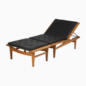 Danish Model Ge-01 Oak Daybed by Hans J. Wegner for Getama, 1950s