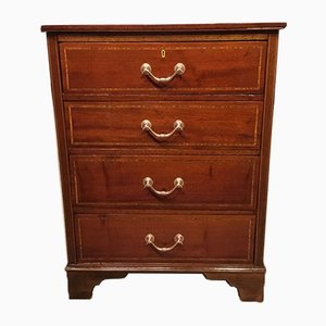 Antique Edwardian Mahogany and Satinwood Dresser