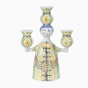 Vintage Rytterstage Kerzenhalter aus Keramik von Bjørn Wiinblad