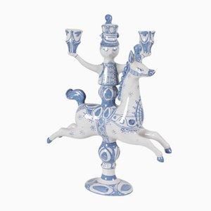 Portacandela Rytterstage vintage in ceramica di Bjørn Wiinblad