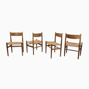 CH36 Dining Chairs by Hans J. Wegner for Carl Hansen & Søn, 1960s, Set of 4