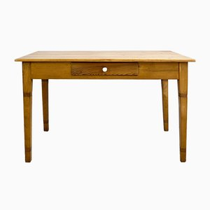 Antiker Jugendstil Esstisch aus Holz & Fichtenholz