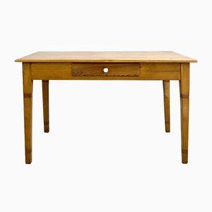 Table de Salle à Manger Art Nouveau Antique en Bois et Épicéa