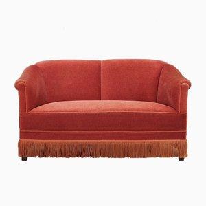 Dänisches Vintage Sofa aus Velours, 1970er