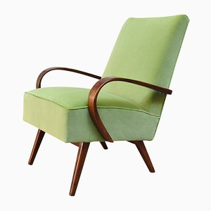 Vintage Beech and Bentwood Armchair, 1930s