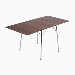 Tavolo da campeggio in palissandro brasiliano di Arne Jacobsen per Fritz Hansen, anni '60