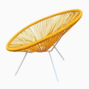 Italienischer Mid-Century Sessel aus Eisen & Gummi, 1950er