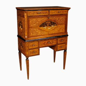 Italian Inlaid Wood Secretaire, 1960s