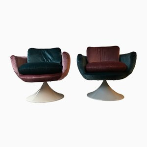 Mid-Century Italian Fiberglass Lounge Chairs, 1950s, Set of 2