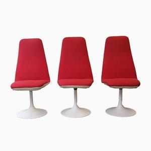 Dänische Vintage Beistellstühle aus Aluminium, 1970er, 3er Set