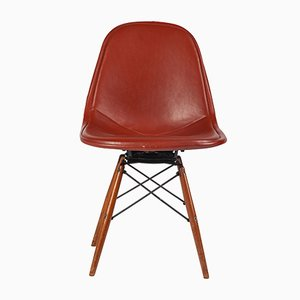 Leather and Metal Desk Chair by Charles & Ray Eames for Herman Miller, 1950s