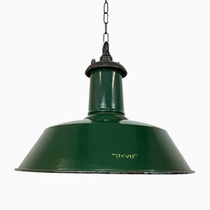 Industrial Cast Iron and Steel Ceiling Lamp from Revo, 1930s