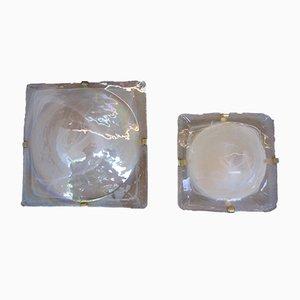Applique in vetro di Murano, Italia, anni '70, set di 2