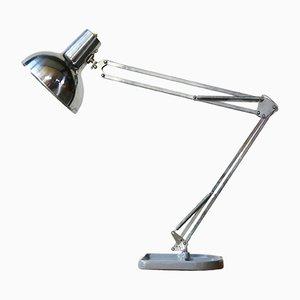 Lámpara de mesa de arquitecto de aluminio y metal de Pileprodukter, años 60