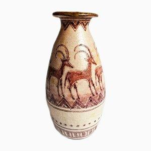 Mid-Century Italian Ceramic Vase by G.Vitali