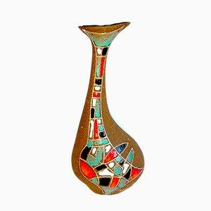 Mid-Century Italian Ceramic Vase by Roberto Rigon