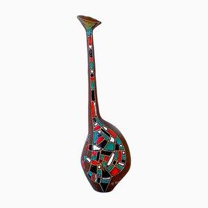 Italienische Mid-Century Keramikvase von Roberto Rigon R.R.