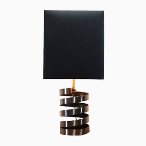 Lampada da tavolo Space Age in acciaio di Jacques Charpentier, Francia, 1972