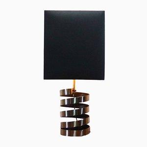 Lámpara de mesa francesa era espacial de acero de Jacques Charpentier, 1972