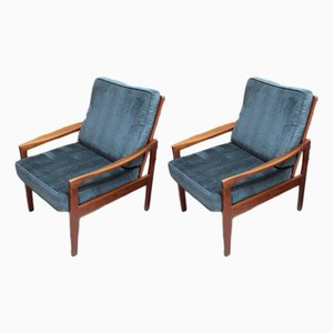Mid-Century Teak Lounge Chairs, 1960s, Set of 2