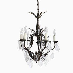 Lámpara de araña italiana vintage, años 20