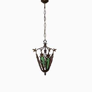 Französische Mid-Century Deckenlampe, 1940er
