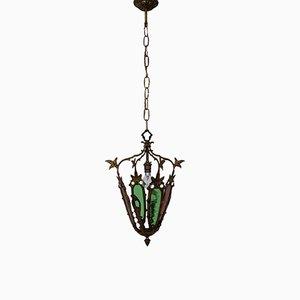Lámpara de techo francesa Mid-Century, años 40