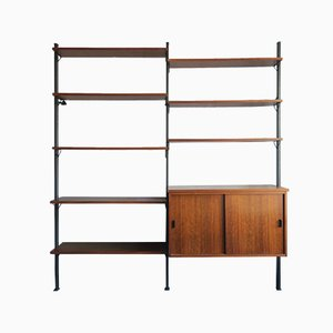 Metal and Teak Wall Unit by Olof Pira, 1960s