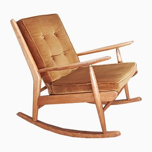 Beech Rocking Chair from Scandart, 1960s