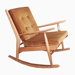 Beech Rocking Chair from Scandart, 1960s