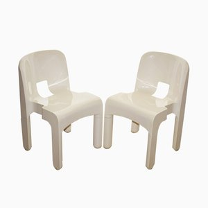 Italian 4868 Dining Chairs by Joe Colombo for Kartell, 1970s, Set of 2
