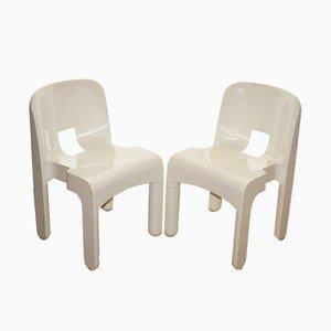 Italienische 4868 Esszimmerstühle von Joe Colombo für Kartell, 1970er, 2er Set