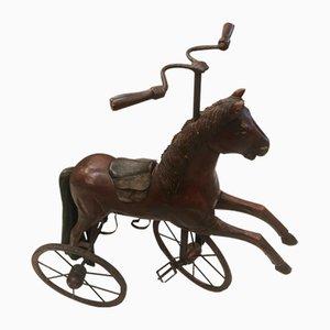Vintage Metal & Wood Horse Tricycle, 1980s